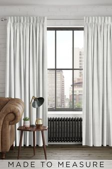 Reeve Platinum Natural Made To Measure Curtains