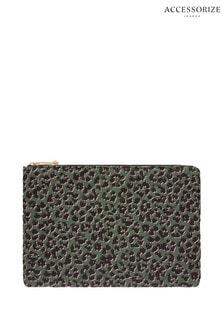 Accessorize Multi Nylon Leopard Quilted Laptop Case