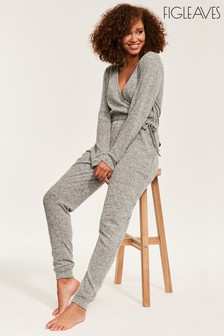 Figleaves Grey Super Soft Lounge Jumpsuit