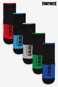 5 Pack Cotton Rich Fortnite Socks (Older)