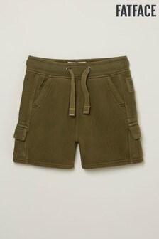 FatFace Green Sweat Cargo Shorts