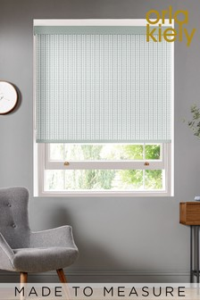 Tiny Stem Duck Egg Blue Made To Measure Roller Blind by Orla Kiely