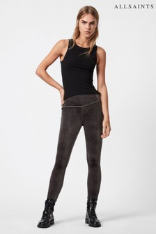 AllSaints Dark Grey Cora Velvet Leggings
