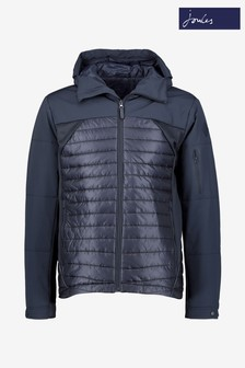 Joules Blue Wentworth Technical Mix Padded Jacket