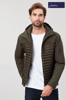 Joules Green Wentworth Technical Mix Padded Jacket
