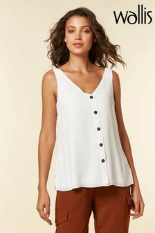 Wallis Cream Ivory V-Neck Cami Shirt