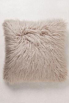 Faux Mongolian Fur Cushion