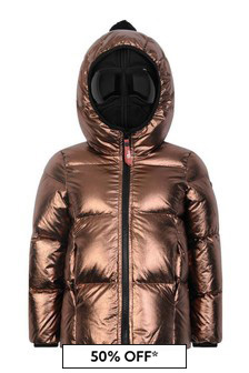 Metallic Down Padded Jacket With Detachable Neoprene Mask