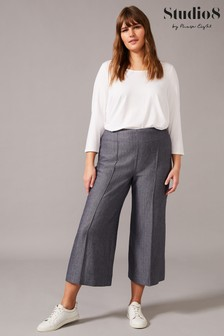 Studio 8 Blue Lenka Herringbone Trousers