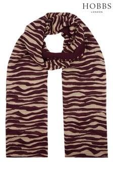 Hobbs Red Zebra Scarf
