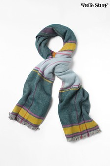 White Stuff Blue Siobhan Check Midweight Scarf
