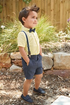 Shirt, Shorts And Bow Tie Set (3mths-7yrs)