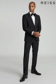 Reiss Black Poker Modern Fit Performance Dinner Jacket