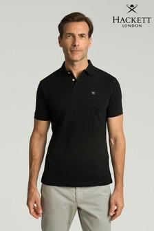Hackett Black Slim Fit Logo Polo Shirt