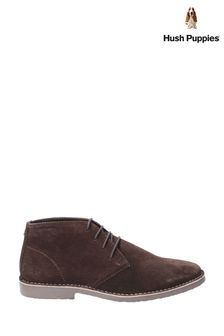 Hush Puppies Brown Freddie Lace-Up Shoes