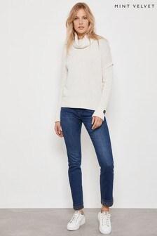 Mint Velvet Houston Indigo Animal Jeans