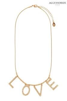 Accessorize Cream Love Pearl Necklace