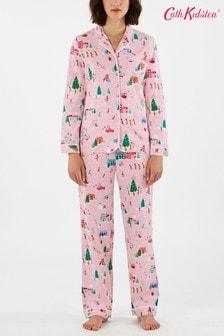 Розовая пижама с рисунком на рождественскую сельскую тему Cath Kidston® Village