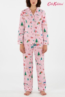 Cath Kidston® Pink Christmas Village Pyjama Set
