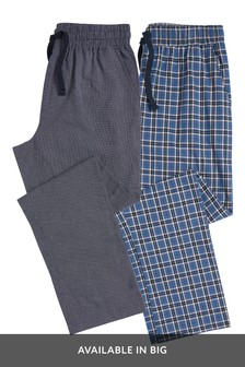 Lightweight Check Pyjama Bottoms Two Pack