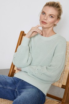 Mint Velvet Chunky Rib Stitch Easy Knit Jumper