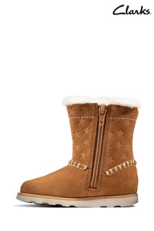 Clarks Tan Crown Piper T Boots
