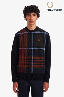 Fred Perry Jaquard Check Jumper