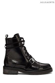 AllSaints Black Dayna Ankle Calf Boots