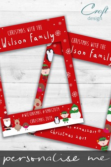 Personalised Christmas Characters Selfie Frame by Croft Designs