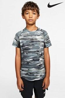 Nike Grey Printed Performance T-Shirt