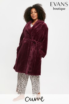 Evans Curve Berry Waffle Robe