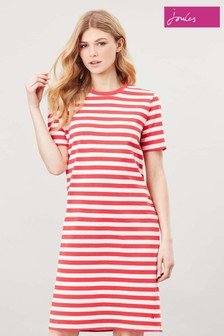 Joules Pink Liberty A-Line Jersey Dress