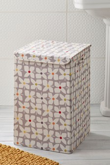 Retro Floral Laundry Hamper
