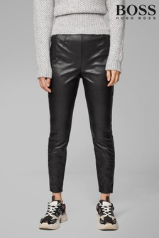 BOSS Black Salungi Leather Trousers