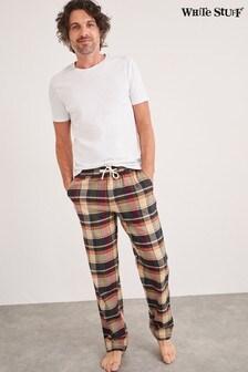 White Stuff Green Rodeer Check Pyjamas Bottoms