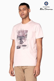 Ben Sherman Main Line Pink Promenade T-Shirt