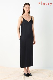 Finery London Black Thayer Cami Slip Dress