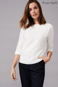 Phase Eight Cream Belle Ripple Textured Top