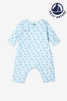 Petit Bateau White Peter Rabbit Quilted Romper