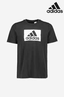 adidas Black Brushstroke Graphic T-Shirt