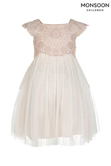 Monsoon Baby Pink Estella Sparkle Dress