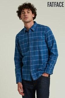 FatFace Blue Burford Windowpane Shirt