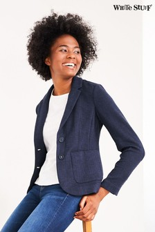 White Stuff Blue Soho Jersey Blazer