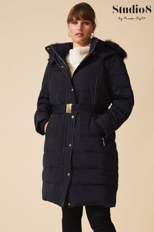 Studio 8 Navy Brisa Padded Coat