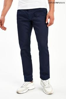 Tmavomodré džínsy úzkeho strihu Emporio Armani J06