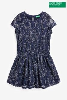 Benetton Navy Lace Dress