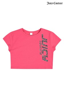 Juicy Couture Cropped Animal Foil T-Shirt
