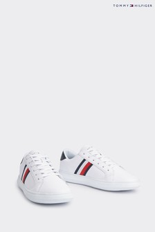 Tommy Hilfiger White Essential Leather Cupsole Trainers