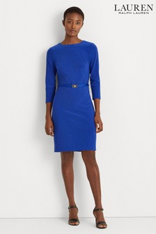 Lauren Ralph Lauren® Marine Blue Stretch Romee Dress