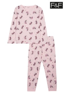 F&F Pink Minnie Mouse™ Gift Square Pyjamas